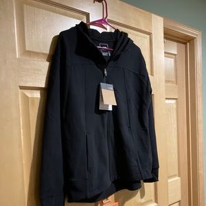 North Face Zip Hoodie Jacket, Black, Size Medium